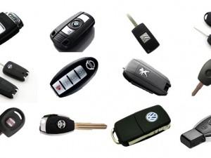 Copia de llaves de vehículo.